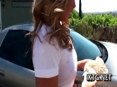 youthful chick acquires creamed