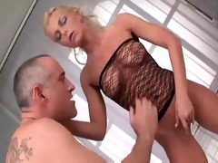 hot golden-haired from romania fucked by old