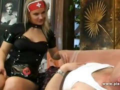 lewd nurse with big milk shakes fuck daddy