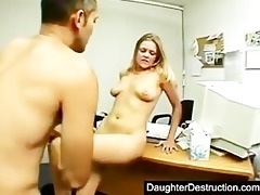 girl legal age teenager daughter widen her cookie