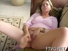 breasty girl masturbating