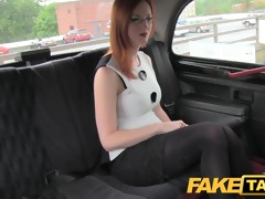 faketaxi red head with large natural meatballs