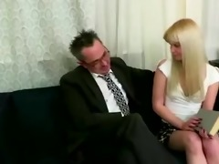lascivious old teached bonks his youthful blonde