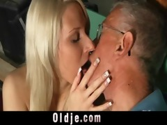 oldman blessed with a juvenile slit for fuck
