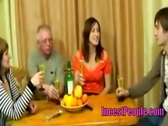 family dinner turns into an sex party - www.