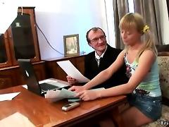 horny schoolgirl copulates her teacher to acquire