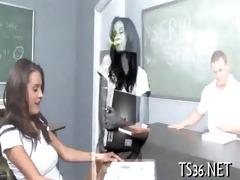 big lad drills schoolgirl