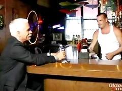 dad into bar scene