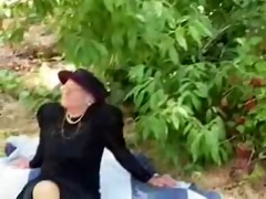 he is gives his gran a fuck and facial !