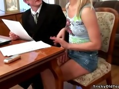 tricky old teacher - marvelous blond sweetheart