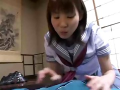 charming japanese schoolgirl pleasures dad !
