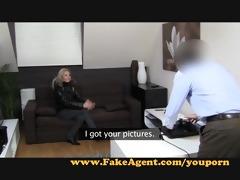 fakeagent blondie wishes to be porn star