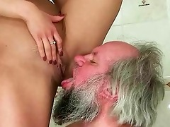 beauty punishing and fucking a old man
