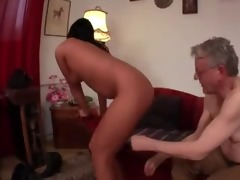 juvenile college cutie drilled by old stud