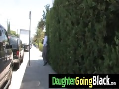 fresh darksome stepdad punishes hawt daughter for