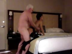 sexy chub dad fuck youthful whore