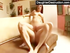pleasing teen daughter fucks like a pro