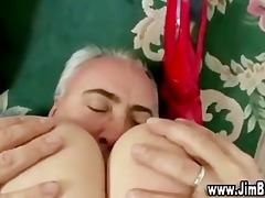 red nylons younger gal fucking