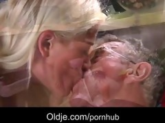 curvy juvenile blond tease and fuck her old spouse