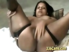 83 year old indian gal playing on webcam