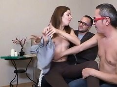 moist snatch group-fucked so well