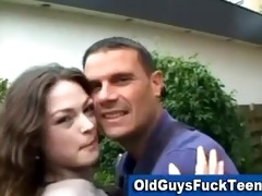 old lad oral by sexy younger chick