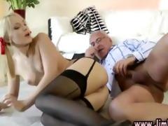 blond schoolgirl enjoys sex