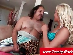grandpa jeremy receives his cock sucked