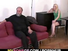 geezer pounds his sons gf from behind