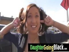 hot daughter schlong engulf and interracial fuck