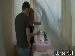 unrepining oriental teen drilled