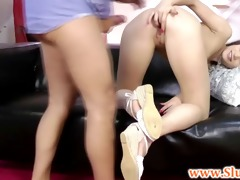 youthful brit honey in heels screwed by old fellow