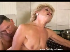 old whore copulates with a juvenile lad