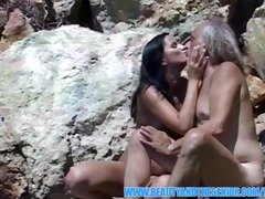 glamorous angel getting screwed outdoors