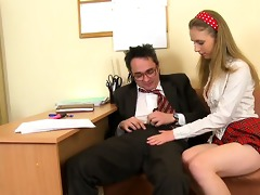 agreeable babe acquires hot fucking lesson