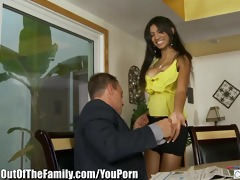 concupiscent lalin girl desires her step-fathers